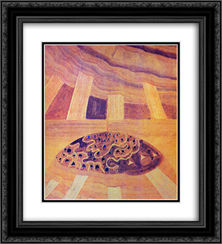 Andante (Sonata of the Sun) 20x22 Black or Gold Ornate Framed and Double Matted Art Print by Mikalojus Ciurlionis