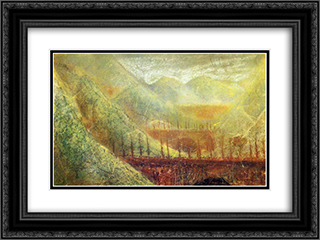 Bridges 24x18 Black or Gold Ornate Framed and Double Matted Art Print by Mikalojus Ciurlionis