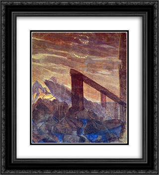 Cancer 20x22 Black or Gold Ornate Framed and Double Matted Art Print by Mikalojus Ciurlionis