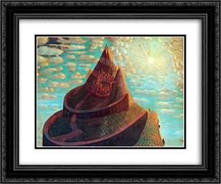 Castle (Castle Fairy Tale) 24x20 Black or Gold Ornate Framed and Double Matted Art Print by Mikalojus Ciurlionis