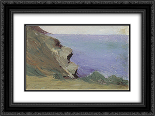 Cliff by the sea 24x18 Black or Gold Ornate Framed and Double Matted Art Print by Mikalojus Ciurlionis