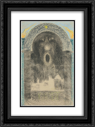 Consert 18x24 Black or Gold Ornate Framed and Double Matted Art Print by Mikalojus Ciurlionis