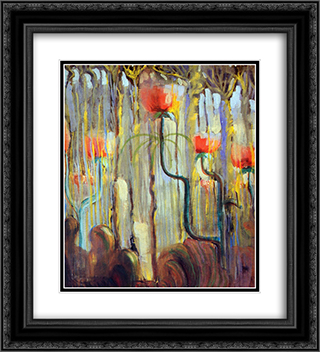Creation of the World IX 20x22 Black or Gold Ornate Framed and Double Matted Art Print by Mikalojus Ciurlionis