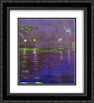 Creation of the World V 20x22 Black or Gold Ornate Framed and Double Matted Art Print by Mikalojus Ciurlionis