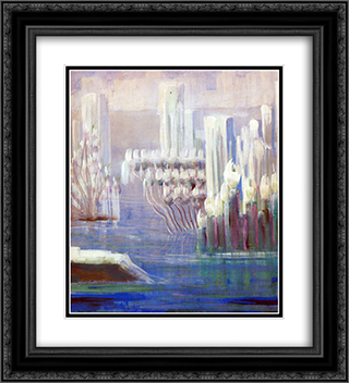 Creation of the World VI 20x22 Black or Gold Ornate Framed and Double Matted Art Print by Mikalojus Ciurlionis