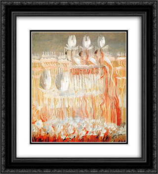 Creation of the World VIII 20x22 Black or Gold Ornate Framed and Double Matted Art Print by Mikalojus Ciurlionis