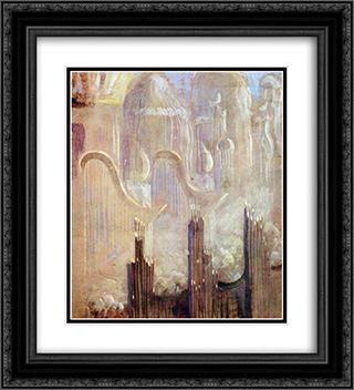 Creation of the World XI 20x22 Black or Gold Ornate Framed and Double Matted Art Print by Mikalojus Ciurlionis