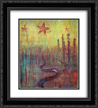 Creation of the World XII 20x22 Black or Gold Ornate Framed and Double Matted Art Print by Mikalojus Ciurlionis