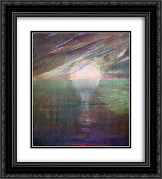 Creation of the World XIII 20x22 Black or Gold Ornate Framed and Double Matted Art Print by Mikalojus Ciurlionis