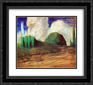Day 22x20 Black or Gold Ornate Framed and Double Matted Art Print by Mikalojus Ciurlionis