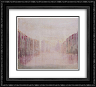 Daybreak (I) 22x20 Black or Gold Ornate Framed and Double Matted Art Print by Mikalojus Ciurlionis