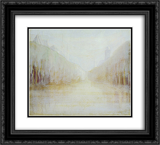 Daybreak (II) 22x20 Black or Gold Ornate Framed and Double Matted Art Print by Mikalojus Ciurlionis