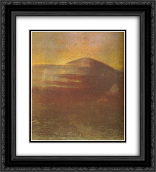 Deluge (II) 20x22 Black or Gold Ornate Framed and Double Matted Art Print by Mikalojus Ciurlionis