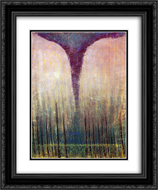 Deluge (III) 20x24 Black or Gold Ornate Framed and Double Matted Art Print by Mikalojus Ciurlionis