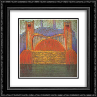 Deluge (IV) 20x20 Black or Gold Ornate Framed and Double Matted Art Print by Mikalojus Ciurlionis