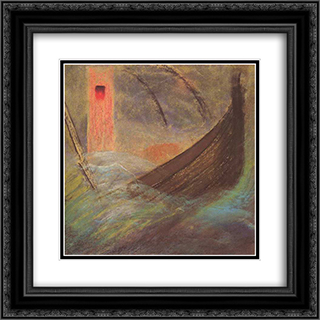 Deluge (V) 20x20 Black or Gold Ornate Framed and Double Matted Art Print by Mikalojus Ciurlionis