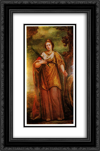 St. Catherine 16x24 Black or Gold Ornate Framed and Double Matted Art Print by Mikhail Shibanov