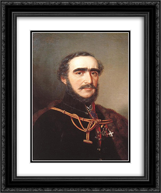 Count Istvan Szechenyi 20x24 Black or Gold Ornate Framed and Double Matted Art Print by Miklos Barabas