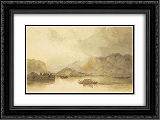 Lago Maggiore 24x18 Black or Gold Ornate Framed and Double Matted Art Print by Miklos Barabas