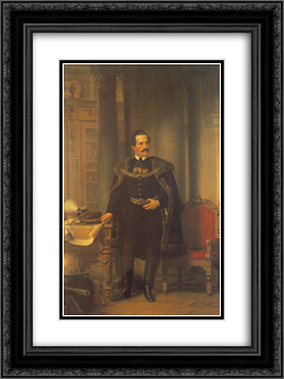 Portrait of Emil Desseweffy 18x24 Black or Gold Ornate Framed and Double Matted Art Print by Miklos Barabas