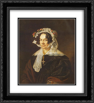 Portrait of Ms. Konkoly 20x22 Black or Gold Ornate Framed and Double Matted Art Print by Miklos Barabas