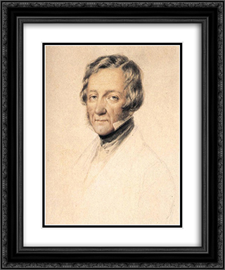 Portrait of William Tierney Clark 20x24 Black or Gold Ornate Framed and Double Matted Art Print by Miklos Barabas
