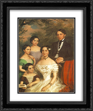The Family Degenfeld 20x24 Black or Gold Ornate Framed and Double Matted Art Print by Miklos Barabas