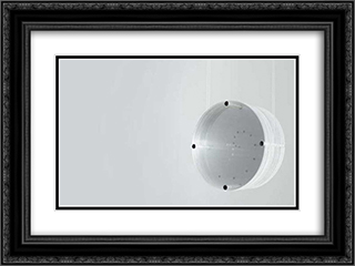Disco Zero 24x18 Black or Gold Ornate Framed and Double Matted Art Print by Mira Schendel