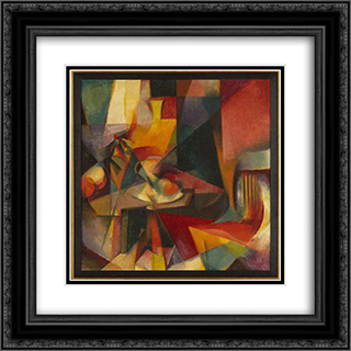 Synchromy No. 3 20x20 Black or Gold Ornate Framed and Double Matted Art Print by Morgan Russell