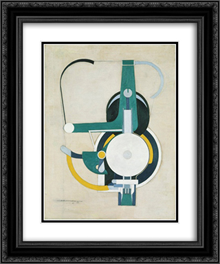 Painting (formerly Machine) 20x24 Black or Gold Ornate Framed and Double Matted Art Print by Morton Shamberg