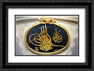 Sultan II Mahmud 24x18 Black or Gold Ornate Framed and Double Matted Art Print by Mustafa Rakim