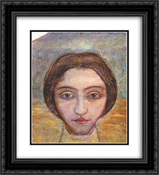 Portrait of a woman 20x22 Black or Gold Ornate Framed and Double Matted Art Print by Mykhailo Boichuk