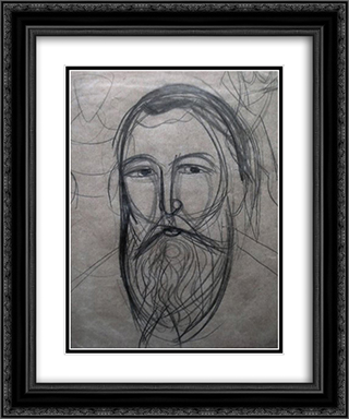 Portrait of Andriy Sheptytsky 20x24 Black or Gold Ornate Framed and Double Matted Art Print by Mykhailo Boichuk