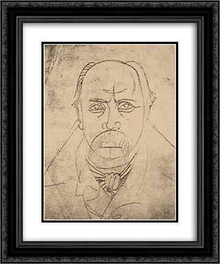 Portrait of Taras Shevchenko 20x24 Black or Gold Ornate Framed and Double Matted Art Print by Mykhailo Boichuk