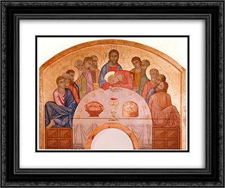 The Last Supper 24x20 Black or Gold Ornate Framed and Double Matted Art Print by Mykhailo Boichuk