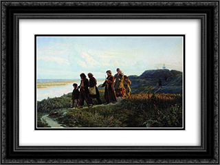 Blind 24x18 Black or Gold Ornate Framed and Double Matted Art Print by Mykola Yaroshenko