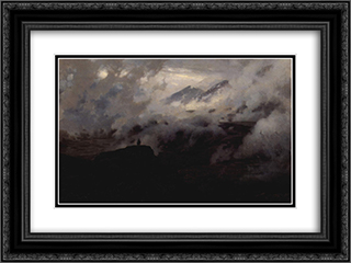 Elbrus in the clouds 24x18 Black or Gold Ornate Framed and Double Matted Art Print by Mykola Yaroshenko