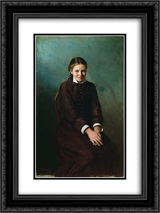 Girl student 18x24 Black or Gold Ornate Framed and Double Matted Art Print by Mykola Yaroshenko