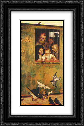Life Is Everywhere 16x24 Black or Gold Ornate Framed and Double Matted Art Print by Mykola Yaroshenko