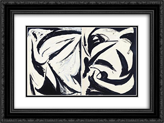 Untitled 24x18 Black or Gold Ornate Framed and Double Matted Art Print by Myron Stout