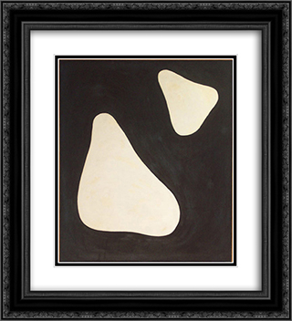 Untitled #5 (2 - 17 - 55) 20x22 Black or Gold Ornate Framed and Double Matted Art Print by Myron Stout