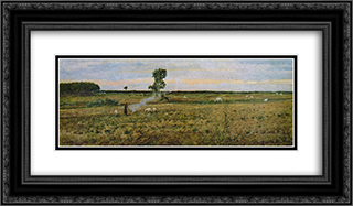 Paesaggio 24x14 Black or Gold Ornate Framed and Double Matted Art Print by Niccolo Cannicci