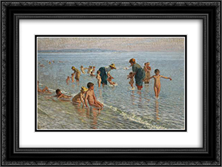 Summer 24x18 Black or Gold Ornate Framed and Double Matted Art Print by Niccolo Cannicci