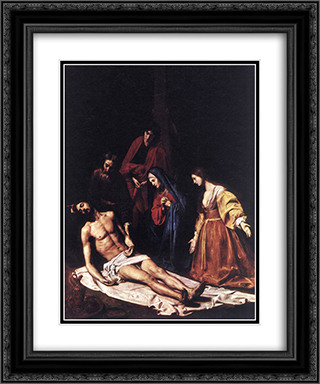 The Descent from the Cross 20x24 Black or Gold Ornate Framed and Double Matted Art Print by Nicolas Tournier