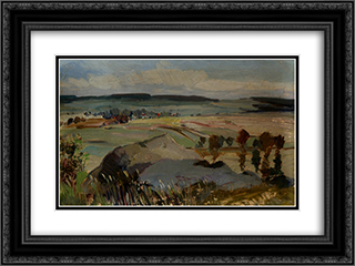 Landscape 24x18 Black or Gold Ornate Framed and Double Matted Art Print by Nikola Tanev