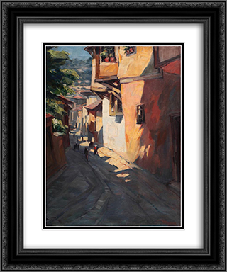 Street in Sofia 20x24 Black or Gold Ornate Framed and Double Matted Art Print by Nikola Tanev