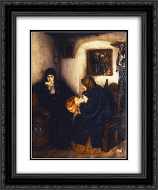 After the memorial service 20x24 Black or Gold Ornate Framed and Double Matted Art Print by Nikolaos Gyzis