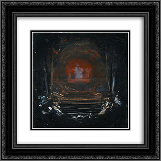 Behold the Celestial Bridegroom 20x20 Black or Gold Ornate Framed and Double Matted Art Print by Nikolaos Gyzis