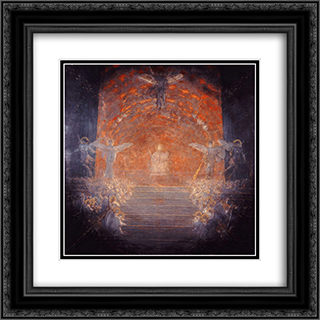 Behold the Celestial Bridegroom Cometh 20x20 Black or Gold Ornate Framed and Double Matted Art Print by Nikolaos Gyzis