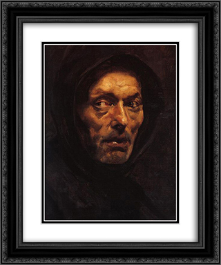Capuchin 20x24 Black or Gold Ornate Framed and Double Matted Art Print by Nikolaos Gyzis